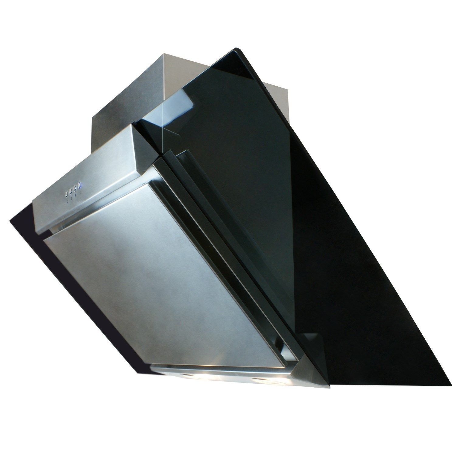 Cooker Hood With A Window ~ Cooker hood cm angled extractor chimney glass