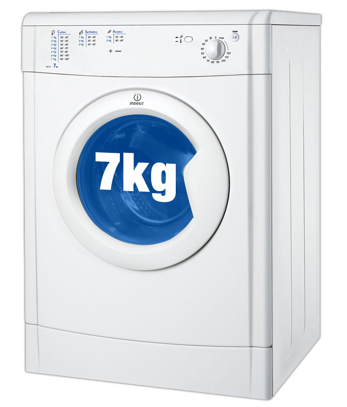 Indesit IDV75 Tumble Dryer with 7kg capacity