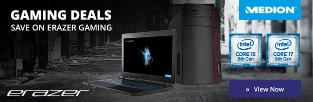 medion erazer gaming laptop deals banner, desktop.