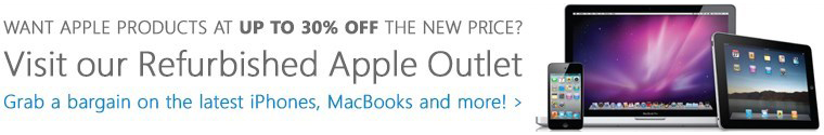 click here to visit our Refurbished Apple Store