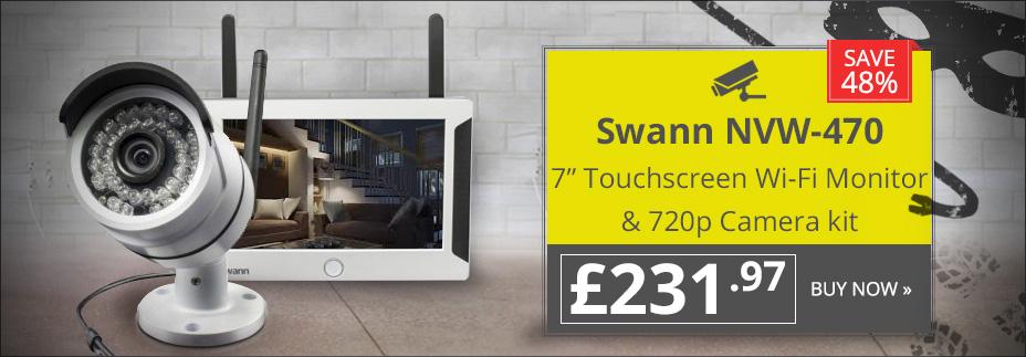 Swann NVW-470 7inch Touchscreen Wi-Fi Monitor & 720p Camera kit