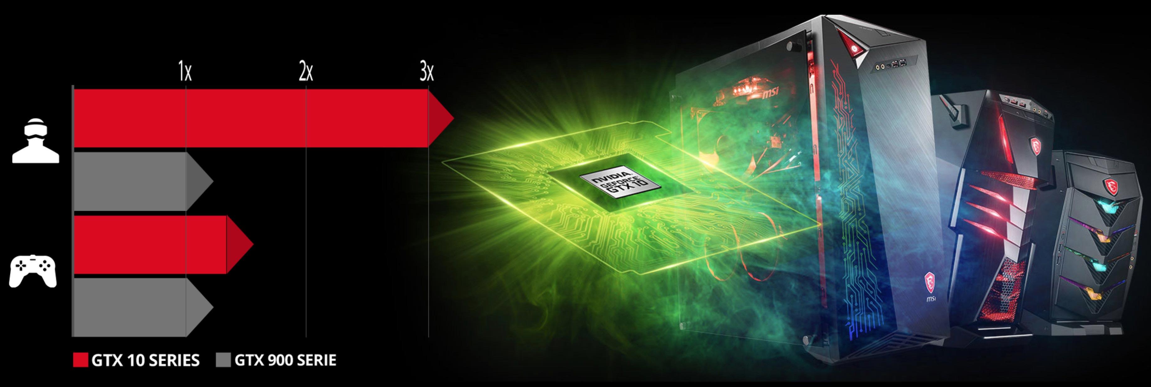 MSI Aegis 3 Core i5-8400 8GB 1TB + 128GB SSD GTX 1060 3GB Windows 10 Gaming  PC
