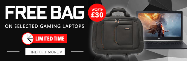 Free bag with selected gaming laptops