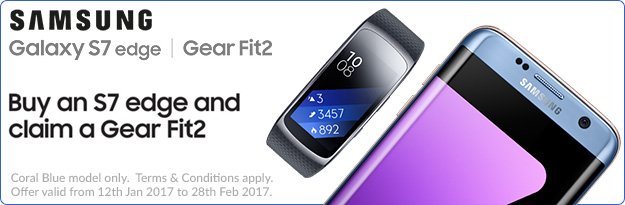 Samsung Galaxy S7 Edge with Free Gear Fit2