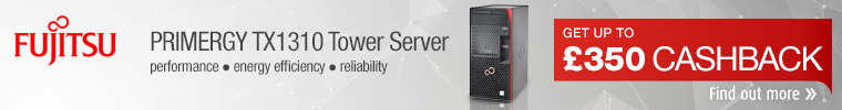 Fujitsu TX131 Tower Server with £350 Cashback