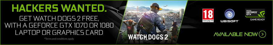 Watch Dogs 2 Free with Nvidia