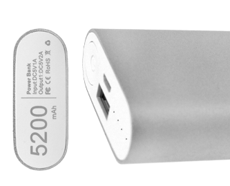 5200 mAh power bank hand comparison