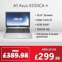 Refurbished Grade A1 Asus X550CA