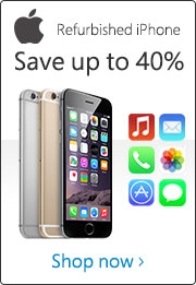 Refurbished iPhone - Save up to 40%