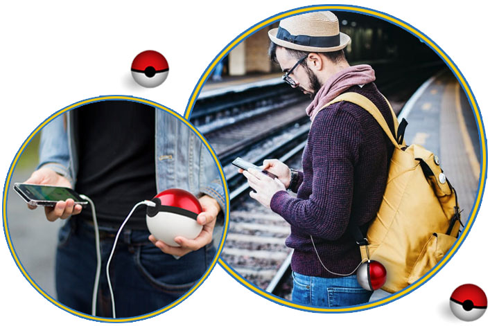 Pokeball charging on the go