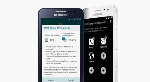 Samsung Galaxy A3 Ultra Power Saving mode