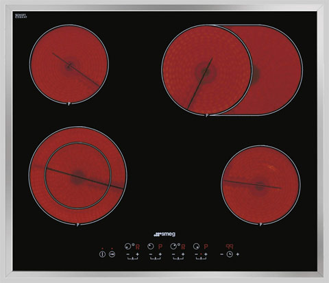 Smeg SE2664CX2 4 zone wafer thin ceramic hob