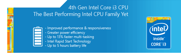 4th Gen Intel Core i3 CPU