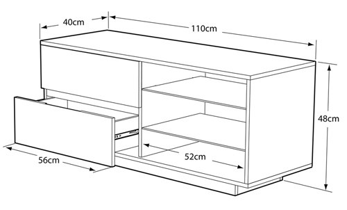 Gallus TV cabinet dimensions