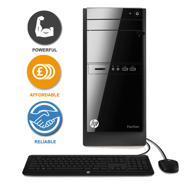 how to set up hp110 desktop pc