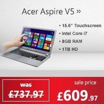 Acer Aspire V5-573P 4th Gen Core i7 8GB 1TB 15.6 inch Touchscreen Windows 8 Laptop