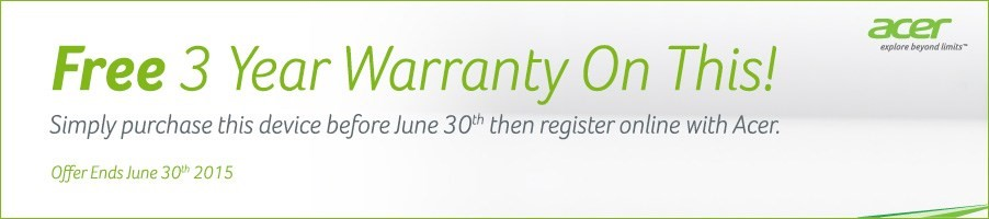 Acer Free 3 Year Warranty