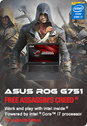 On selected ASUS Gaming Laptops - Free Assassins Creed Game