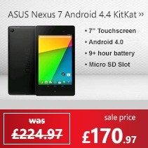ASUS Nexus 7 16GB Android 4.4 KitKat Tablet in Black