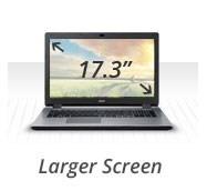 Larger Screen