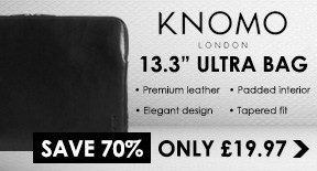 Knomo Designer Leather Sleeve fits 13.3 Ultrabooks