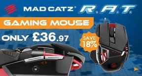 MadCatz Cyborg R.A.T 3 Wired Gaming Mouse 3500dpi in Gloss Black