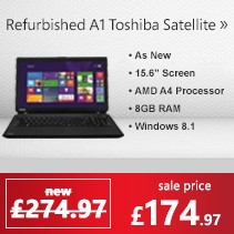Refurbished Grade A1 Toshiba Satellite C50D-B-11N Quad Core 8GB 1TB 15.6 inch