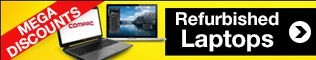BIG SAVINGS on refurbished laptops