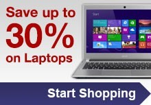 Save up to 30% on Laptops