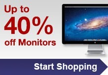 Up to 40% off monitors
