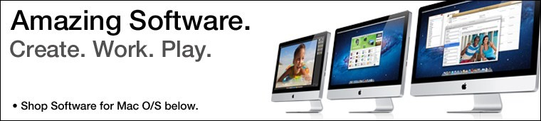 Software for Apple. Create. Work. Play