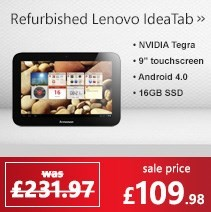 Refurbished Grade A1 Lenovo IdeaTab A2109A 9 inch 16GB Android 4.0 Ice Cream Sandwich Tablet