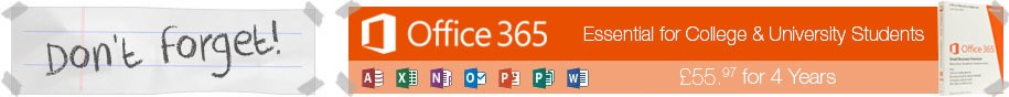 Office 365 - Subscription £54.97 for four years