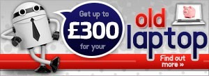 Get up to �300 when you sell us your old laptop