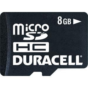 Micro SD Memory Duracell 8GB Micro SDHC Card